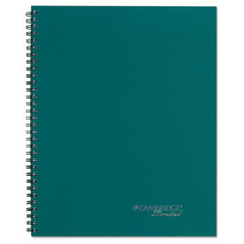 Stagg Side-Bound Guided Business Notebook, 7 1/4 x 9 1/2, Teal, 80 Sheets