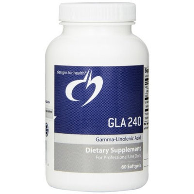 Designs for Health - GLA 240mg (Gamma Linolenic Acid) - 60 gelcaps