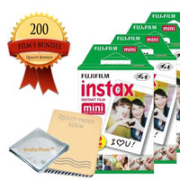 Quality Photo Fujifilm INSTAX Mini Instant Film 20 Pack (200 Films) - Photo Album - Microfiber Cloth