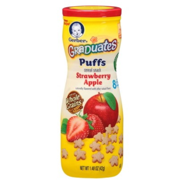 Gerber Graduates Puffs Strawberry Apple - 1.48 oz. (6 Pack)