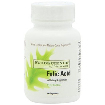 Food Science Of Vermont Folic Acid Capsules, 60 Count