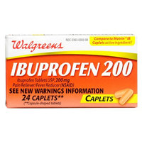 Walgreens Ibuprofen 200 mg Caplets, 24 Each