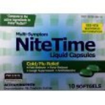 Pl Developments Multi-symptom Nite Time Liquid Capsules