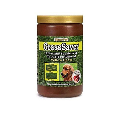 NaturVet GrassSaver Chewable Wafers, 100-Pack