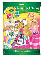 Crayola CW Barbie 18pg Clrng Pad/5ct Mkr