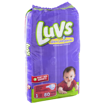 Luvs Ultra Leakguards Size 1 Diapers - 50 CT