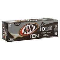 A&W Ten Vanilla Root Beer 12 oz, 12 pk