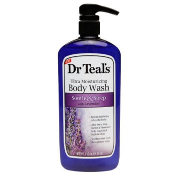 Dr. Teal's Ultra Moisturizing Body Wash, Soothe & Sleep with Lavender, 24 fl oz