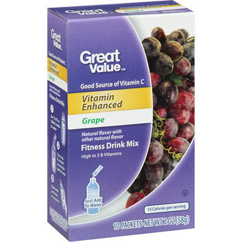 Great Value : Vitamin Enhanced Grape Fitness Drink Mix