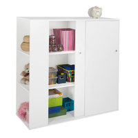 South Shore Storit Kids Storage Cabinet with Sliding Doors, Pure White - 5050047