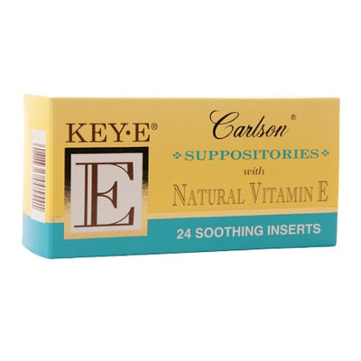 Carlson Key-E Suppositories with Natural Vitamin E