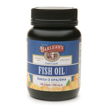 Barlean's Organic Oils Fresh Catch Fish Oil Omega-3 EPA/DHA 1000mg Softgels