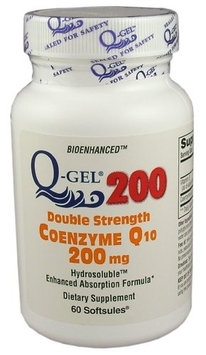Tishcon Corp Q-Gel Double Strength Hydrosoluble Coenzyme Q10 200mg 180ct.