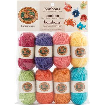 Lion Brand Bonbons Yarn - 8 Miniature Skeins Brights