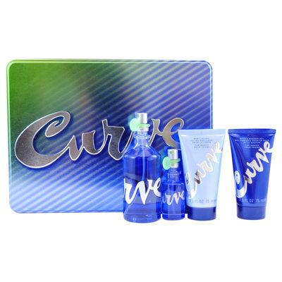 Sierra Accessories Curve by Liz Claiborne for Women - 4 Pc Gift Set 3.4oz EDT Spray, 0.5oz EDT Spray, 2.5oz Body Lotion, 2.5oz Bath & Shower Gel