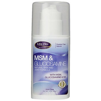 Life Flo Life-Flo MSM & Glucosamine Body Cream, 3 Ounce Bottle