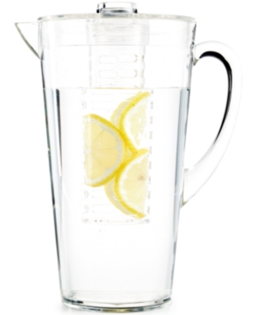 Martha Stewart Collection Clear Acrylic Pitcher with Infuser