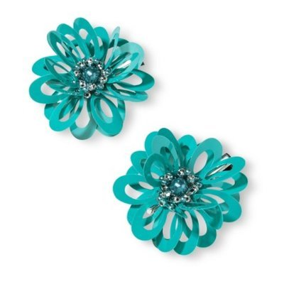 Fantasia Accessories Girls' 2-Pack Flower Clip - Teal