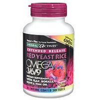 Nature's Plus ER Red Yeast Rice, Omega 3/6/9 With CoQ10 30 Sg