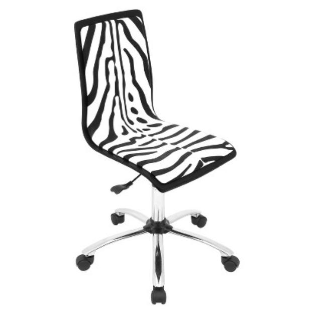LumiSource Office Chair: Lumisource Office Chair - Zebra