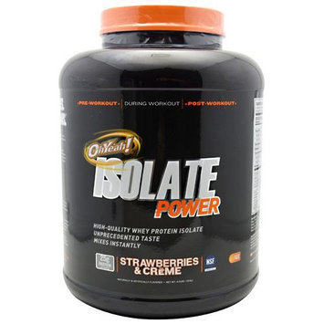 ISS Oh Yeah, Isolate Powder Strawberries & Creme 4 lbs
