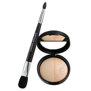 Laura Geller Baked Split Highlighter Duo with Double-Ended Applicator