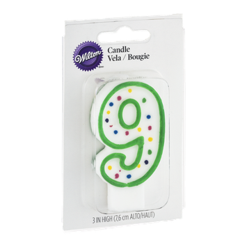 Wilton 3 IN Numeral Candle