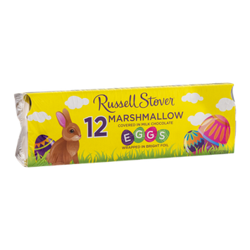 Russell Stover Marshmallow Eggs Milk Chocolate - 12 CT