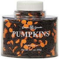 Dean Jacob's Dean Jacobs Pumpkins Shapes Stacking Jar, 3.2-Ounce (Pack of 6)