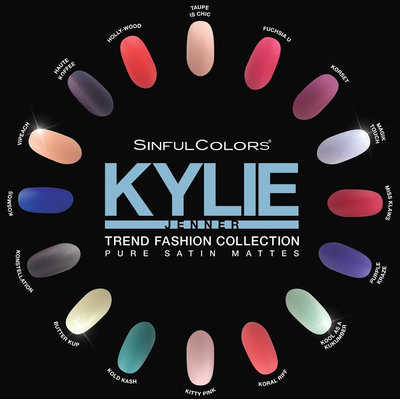 SinfulColors Kylie Jenner Trend Matters Pure Satin Mattes Collection
