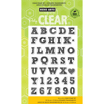 Hero Arts Rubber Stamps hero arts Hero Arts Clear Stamp Sheet Sketchbook Letters