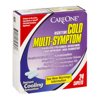 CareOne Nighttime Cold Multi-Symptom Caplets - 24 CT