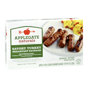 Applegate Naturals Breakfast Sausage Savory Turkey