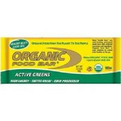 Organic Food Bars by Organic Food Bar - Active Greens, Box of 12