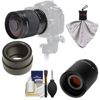 Samyang 500mm f/8.0 Mirror Lens with 2x Teleconverter (=1000mm) for Sony Alpha NEX-C3, NEX-F3, NEX-5, NEX-5N, NEX-7 Digital Cameras