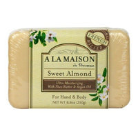 A La Maison Solid Bar Soap, Sweet Almond, 8.8 Ounce