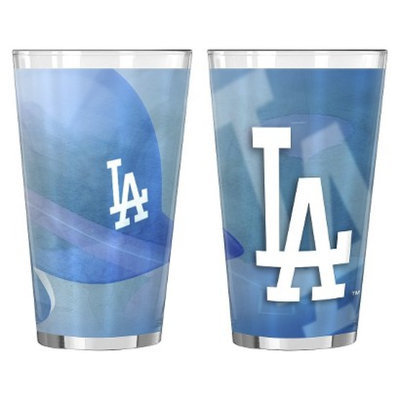 Boelter Brands MLB Dodgers Set of 2 Shadow Pint Glass - 16oz