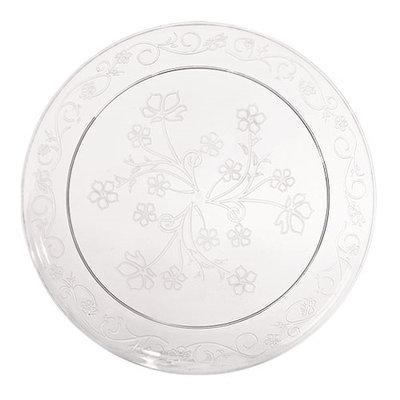 King Zak Ind Lillian Tablesettings 13270 D'Vine 7 in. Clear D'Vine Plate Dinnerware - 240 Per Case