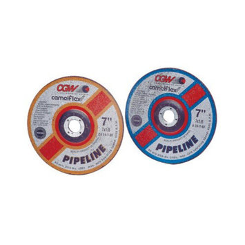 CGW Abrasives Depressed Center Wheels-Pipeline, Cutting / Light Grind - 7x1/8x5/8-11 za24-t-b pipeline zirc t27 ct whl