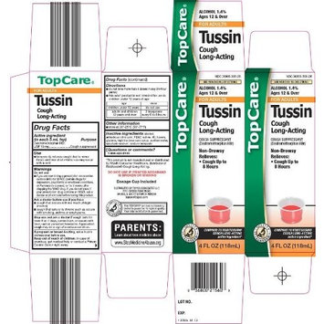 Topcare Top Care Tussin For Adults, Long-Acting Cough Suppressant