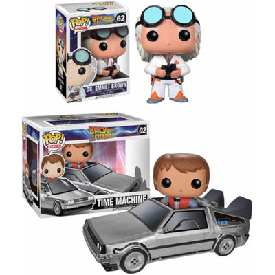Funko Pop! Back to the Future Movie Vinyl Collectors Set: Doc Emmet Brown & Pop! Ride Delorean with Marty McFly