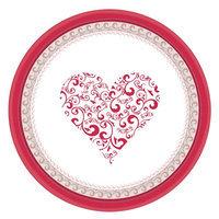 Hanna K Signature Hanna K. Signature 97090 9 in. Plate Valentine Heart - 800 Per Case