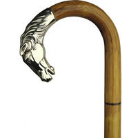 Harvy Men Horse Head Cane Stepped Manilla Alpacca Handle -Affordable Gift! Item #DHAR-9011300
