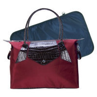 Trend Lab Rendezvous Tote Diaper Bag - Burgundy Red/Chestnut Brown by Lab