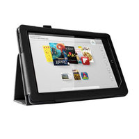 Black Double-Fold Folio Case for Nook HD+ 9