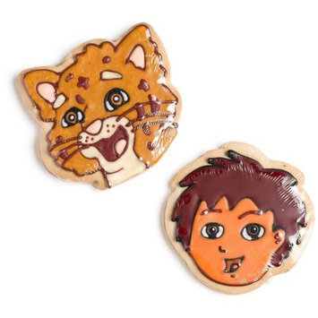 Color-a-Cookie Go Diego Go Hand-Decorated Cookies (Pack of 24)