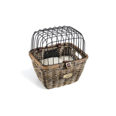 Nantucket Bike Basket CompanyTuckernuck Collection Rectangle Pet Bicycle Basket with Quick Release