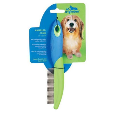 Pet Pals US343 19 UGroom Handled Comb 41-Tooth Fine