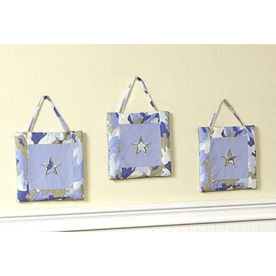 Sweet Jojo Designs Camo Blue Collection Wall Hangings