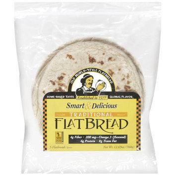 Smart Delicious Smart & Delicious Traditional Flat Bread, 12.69 oz, 5ct